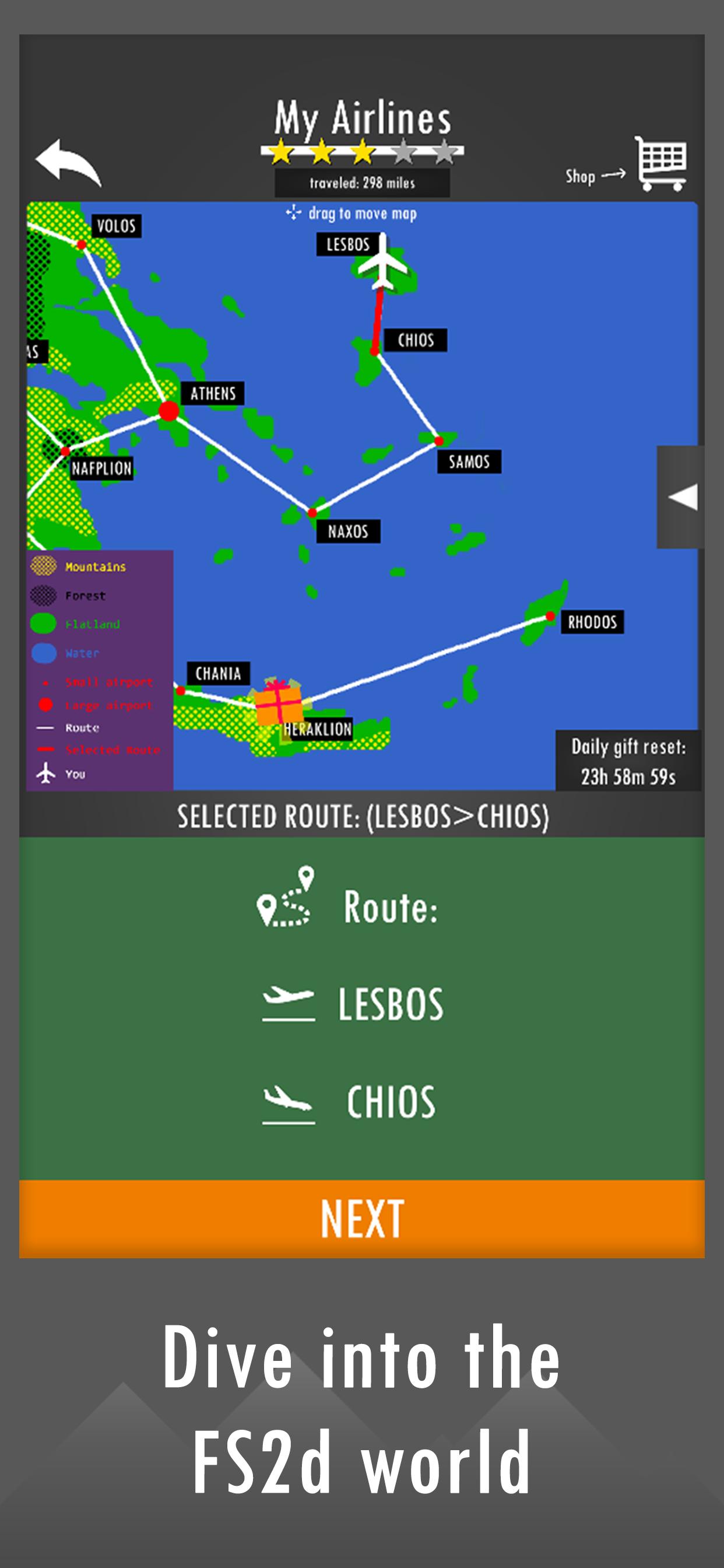 Screenshot 1: Flight Simulator 2d