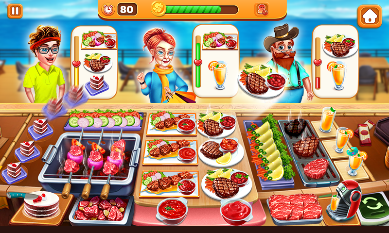 Screenshot 1: Mad Chef's Restaurant | Cooking Craze | Food Fever