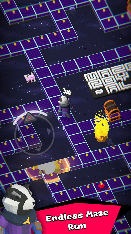 Screenshot 1: Maze Royale - Endless Runner