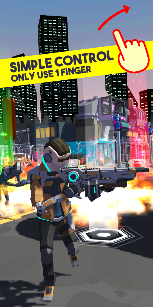 Screenshot 1: Shooter Punk