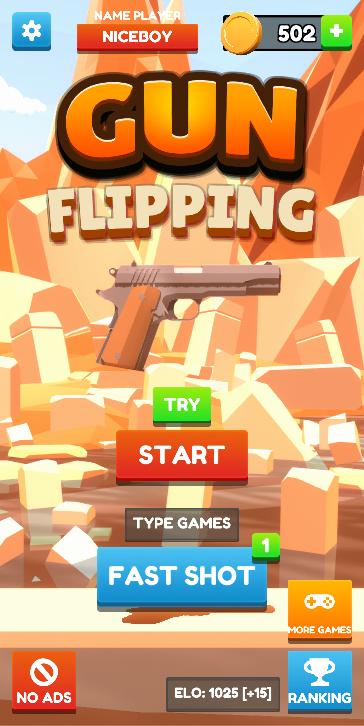 Screenshot 1: Gun Flipping Online