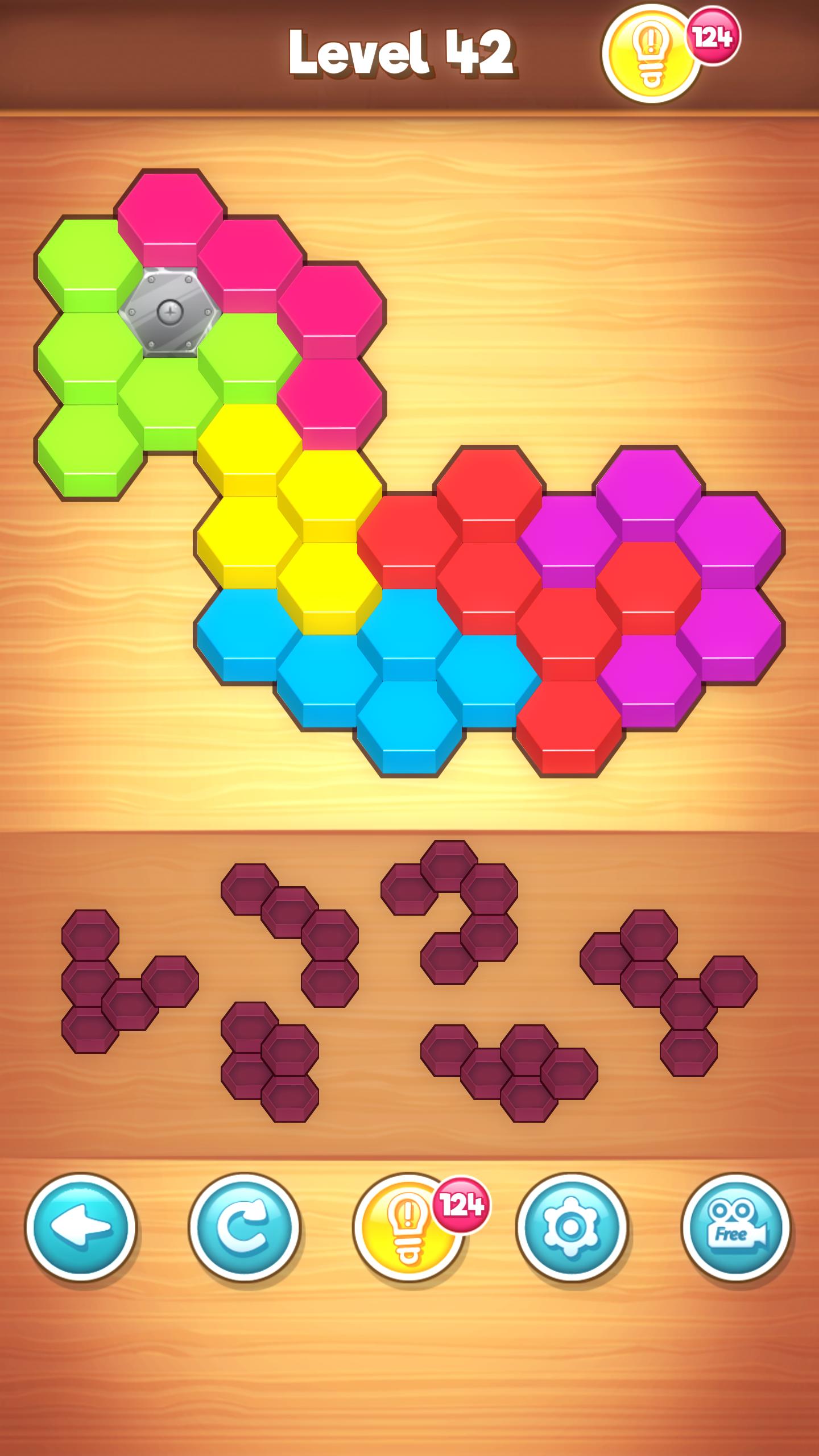 Screenshot 3: Hexa Puzzle Wood Block