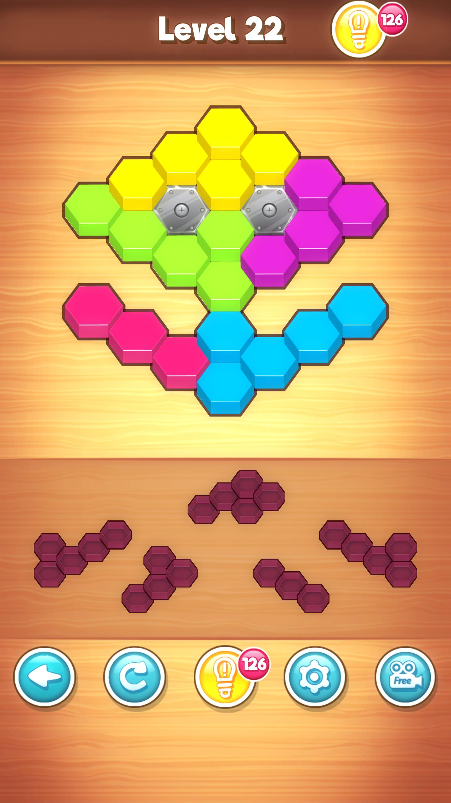 Screenshot 1: Hexa Puzzle Wood Block