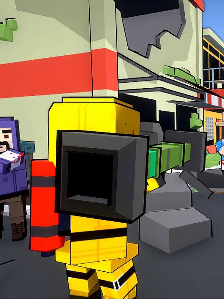 Screenshot 1: Blocky Gun TPS Online