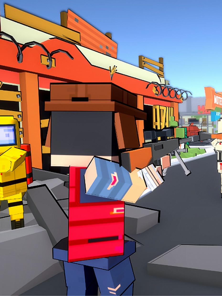 Screenshot 2: Blocky Gun TPS Online