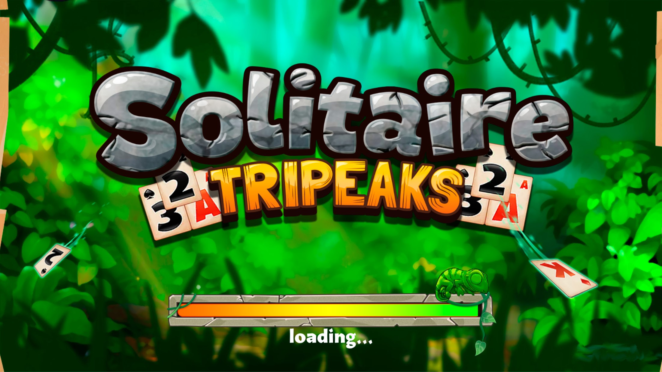 Screenshot 1: Solitaire Tripeaks - Lost Worlds Adventure