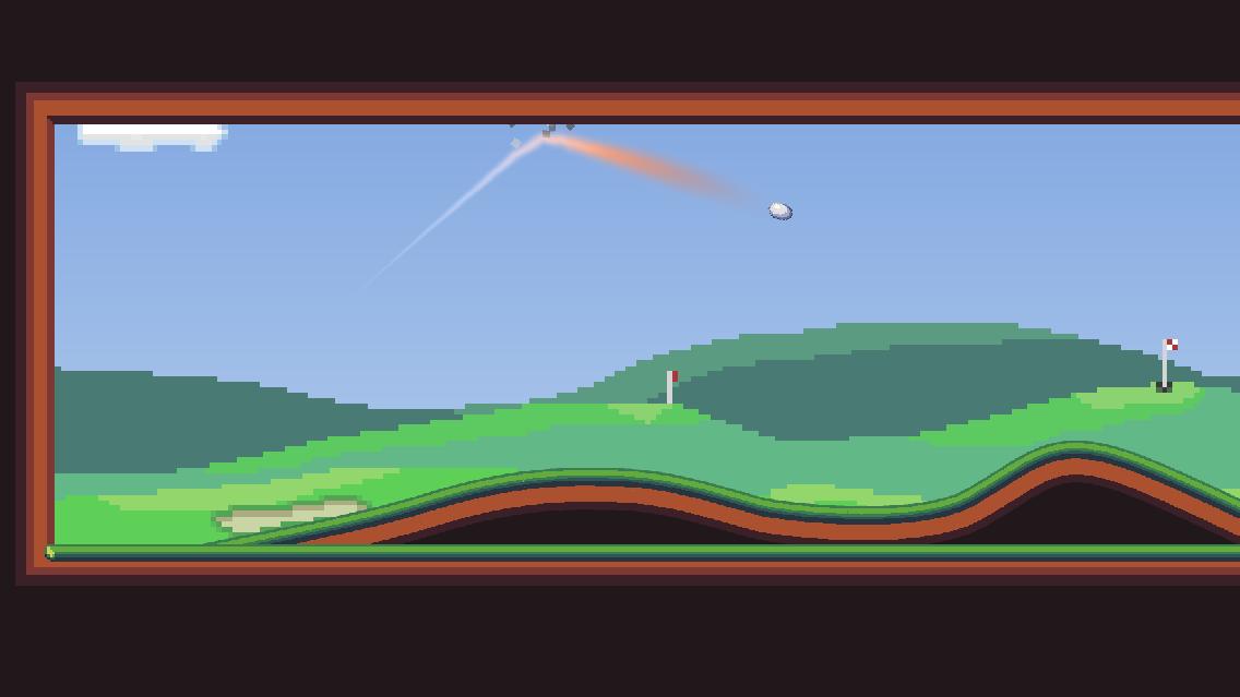 Screenshot 1: Rocket Golf - Arcade Golf Speedrun