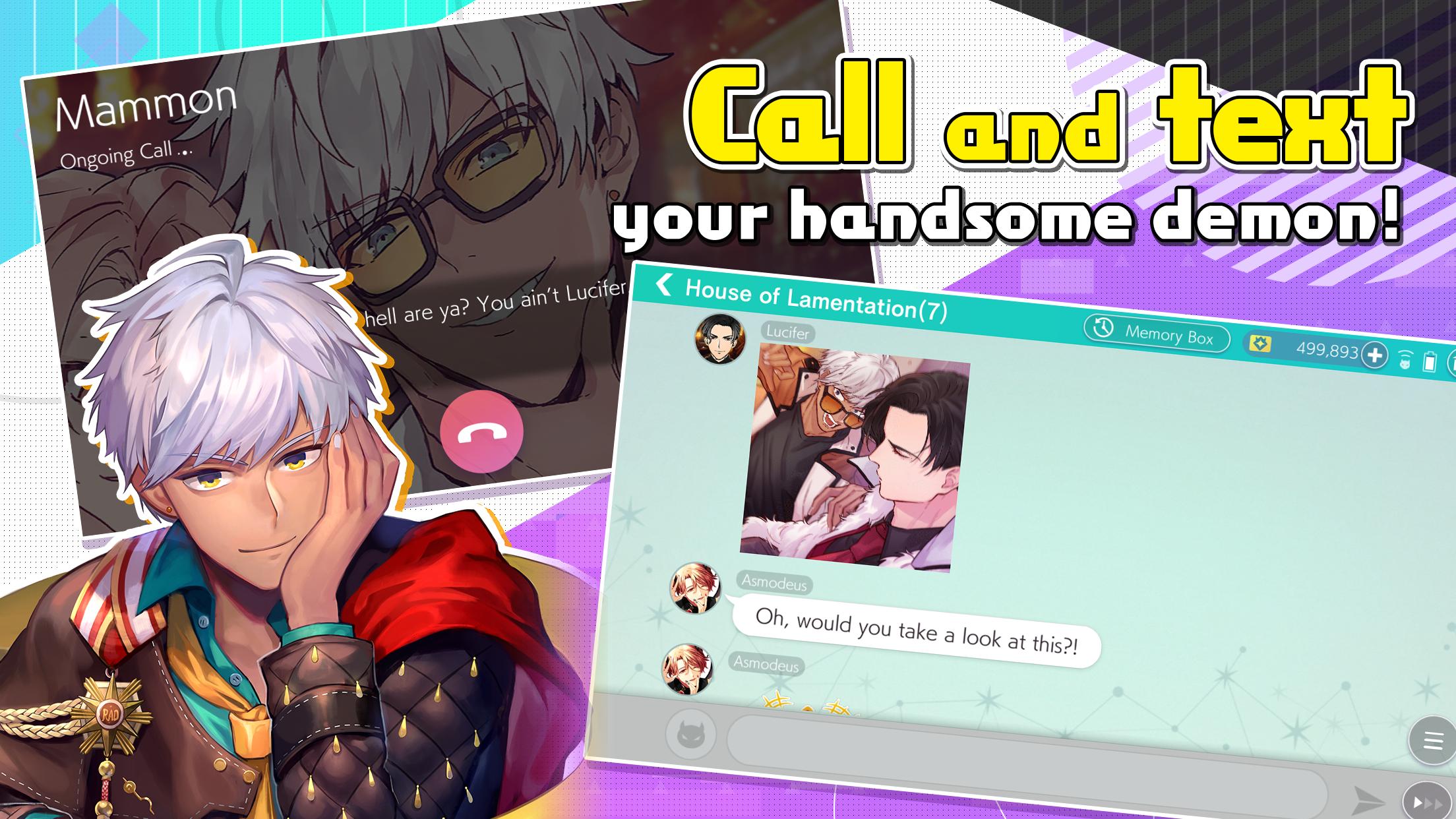 Screenshot 2: Obey Me! -Anime Otome Dating Sim/Dating Ikemen | QooApp version