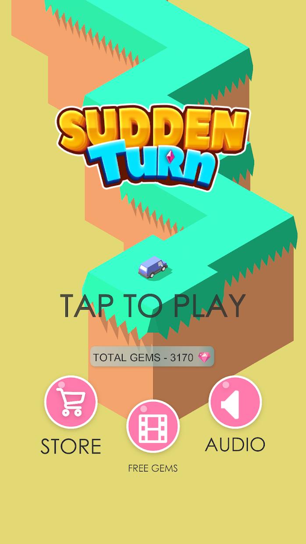 Screenshot 1: Sudden Turn Racing Zig Zag 3D
