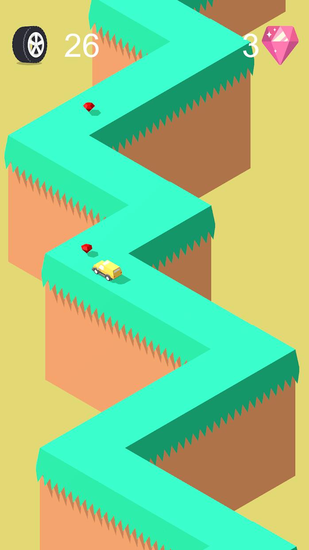 Screenshot 3: Sudden Turn Racing Zig Zag 3D