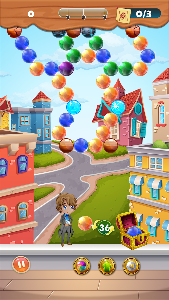 Screenshot 4: CASEPOPPER ESQUIRE – PUZZLE MYSTERY BUBBLE SHOOTER