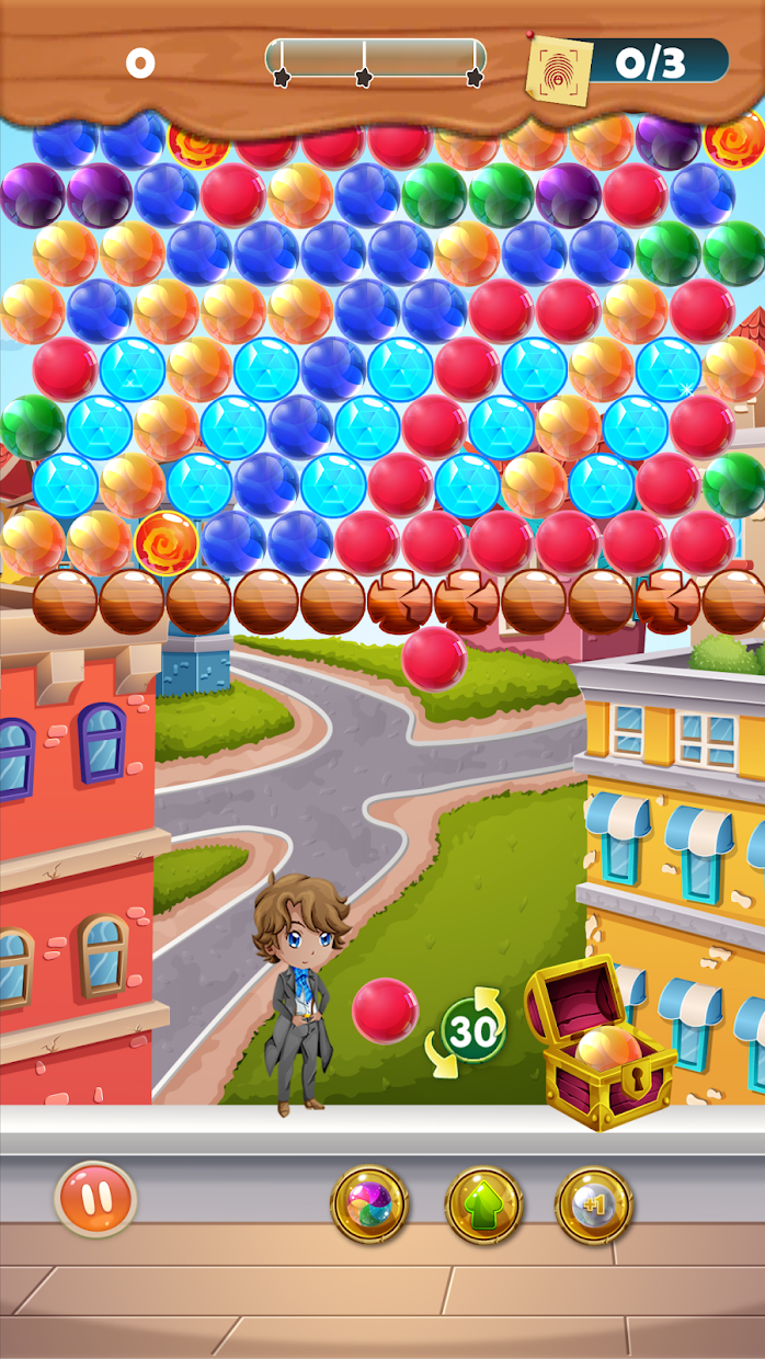 Screenshot 3: CASEPOPPER ESQUIRE – PUZZLE MYSTERY BUBBLE SHOOTER