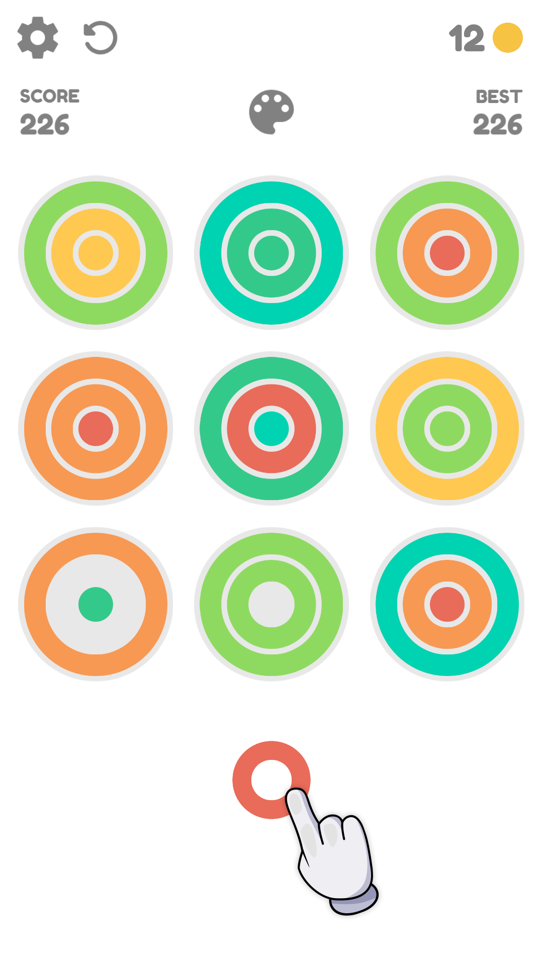 Screenshot 1: Rainbow Rings: Color Puzzle Game