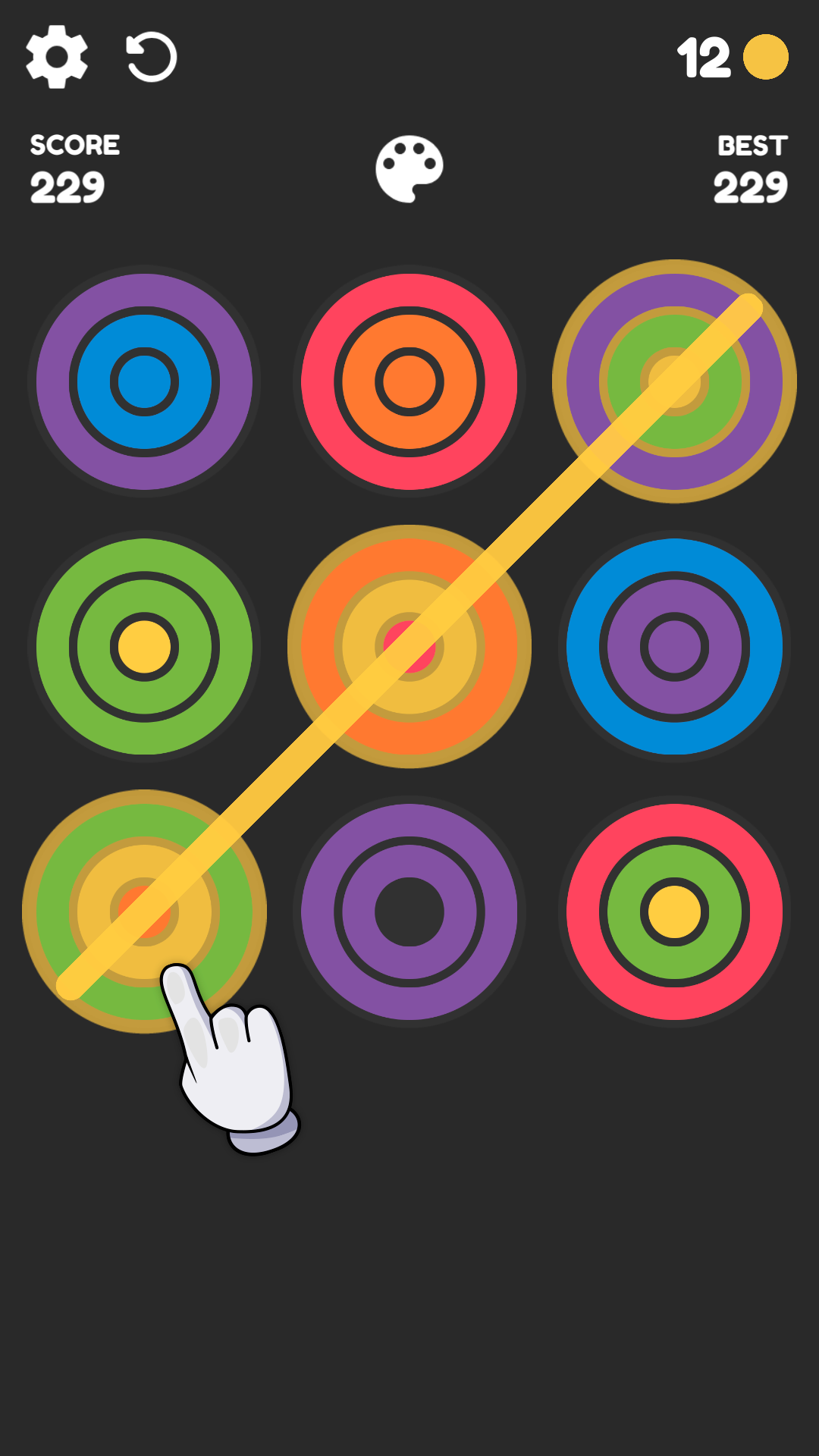 Screenshot 2: Rainbow Rings: Color Puzzle Game