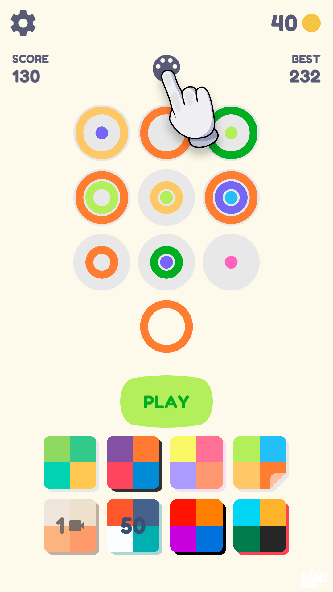 Screenshot 4: Rainbow Rings: Color Puzzle Game