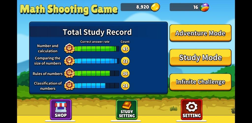Screenshot 3: Math Shooting Game for Kids