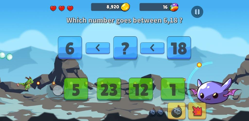 Screenshot 1: Math Shooting Game for Kids