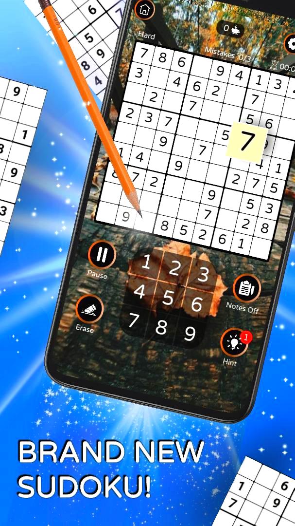 Screenshot 1: Sudoku - Free Classic Offline Puzzle Game