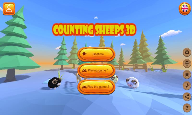 Screenshot 1: 羊を数える-寝る