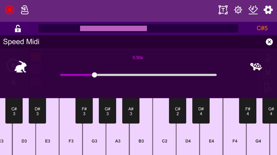 Screenshot 3: Midi Piano Editor