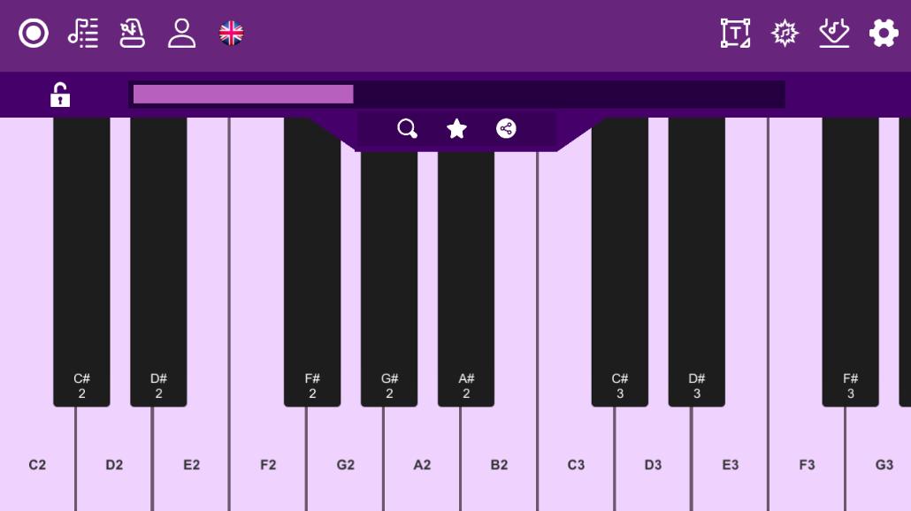 Screenshot 2: Midi Piano Editor