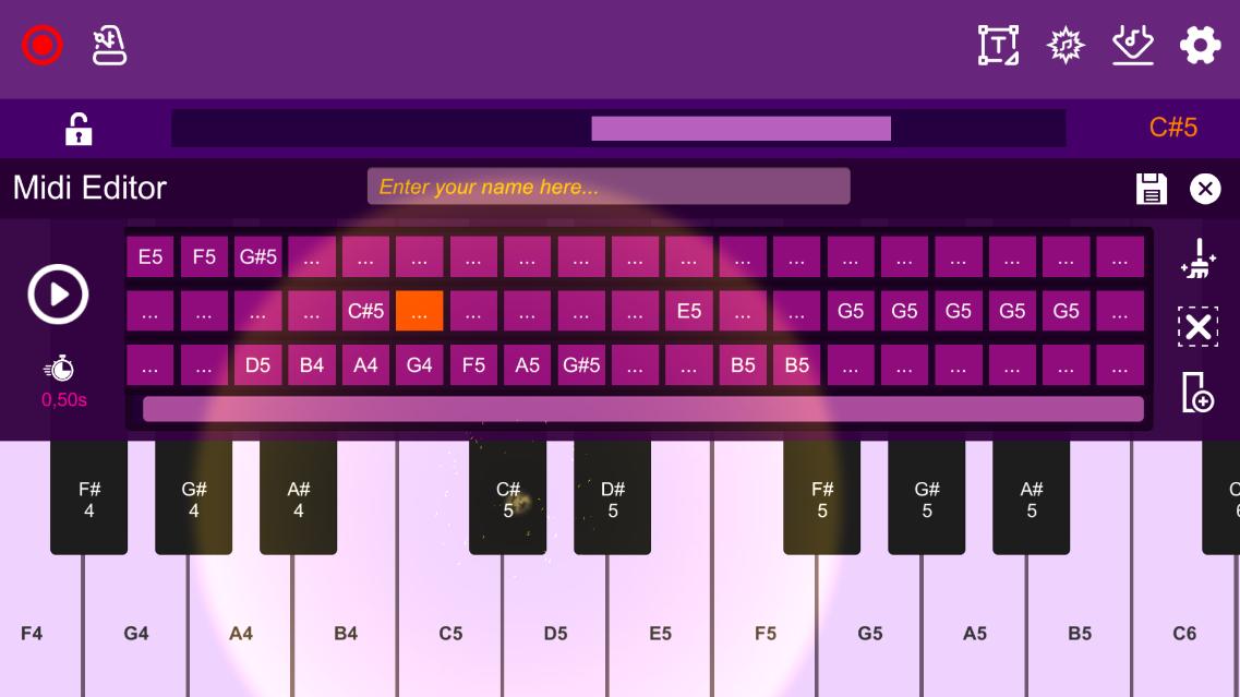 Screenshot 6: Midi Piano Editor