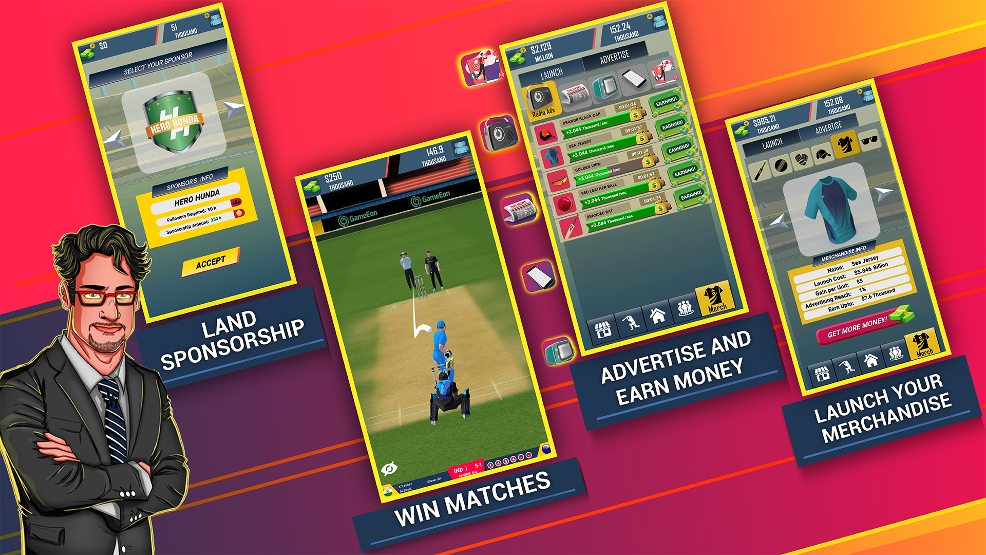 Screenshot 8: Cricket CEO 2021