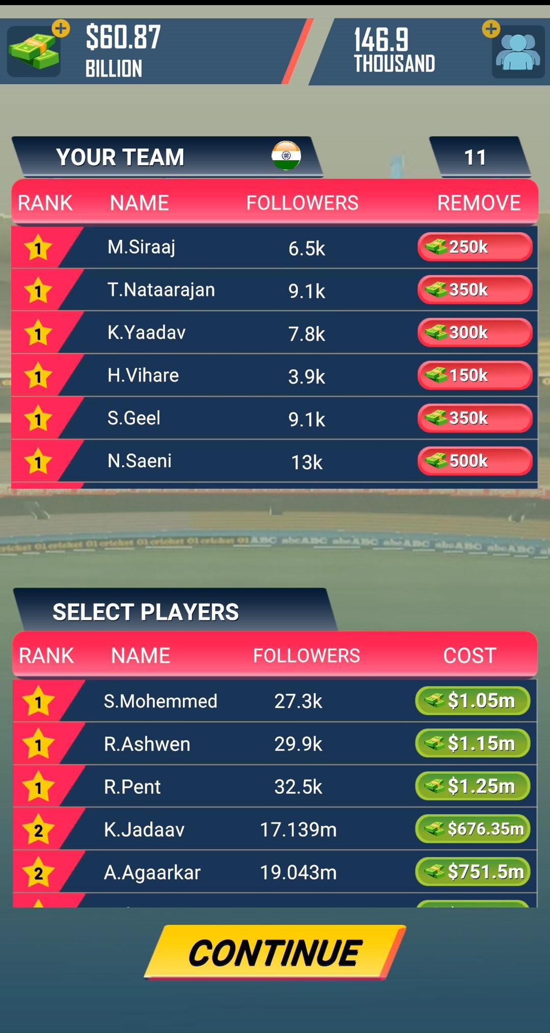 Screenshot 2: Cricket CEO 2021