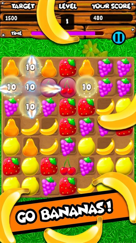 Screenshot 2: Fruity Gardens - Fruit Link Puzzle Game
