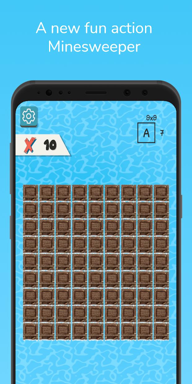Screenshot 1: Sea of Bombs