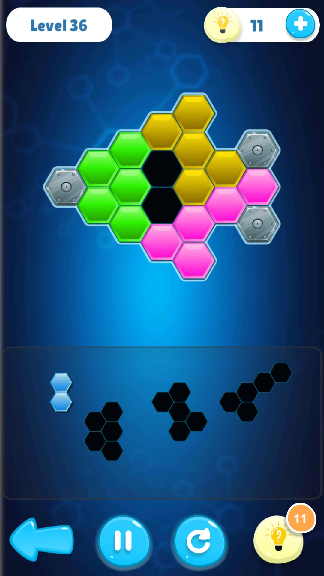 Screenshot 1: Hexa Puzzle Collection